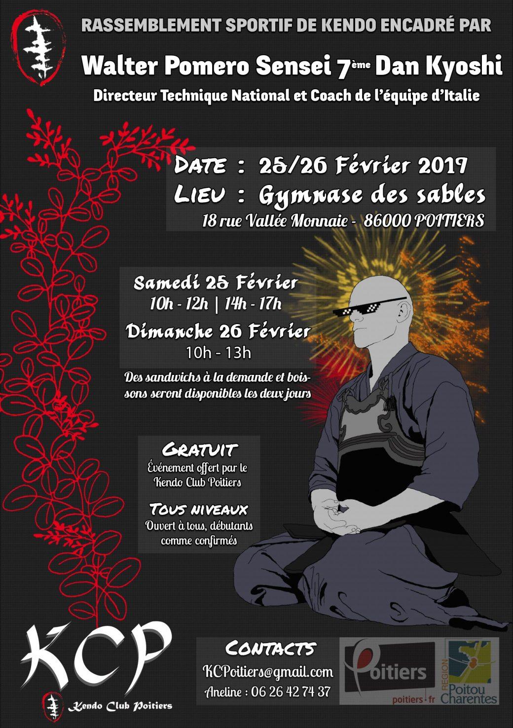 Affiche pour le stage Pomero à Poitiers