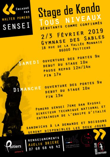 Pomero sensei à Poitiers 2019